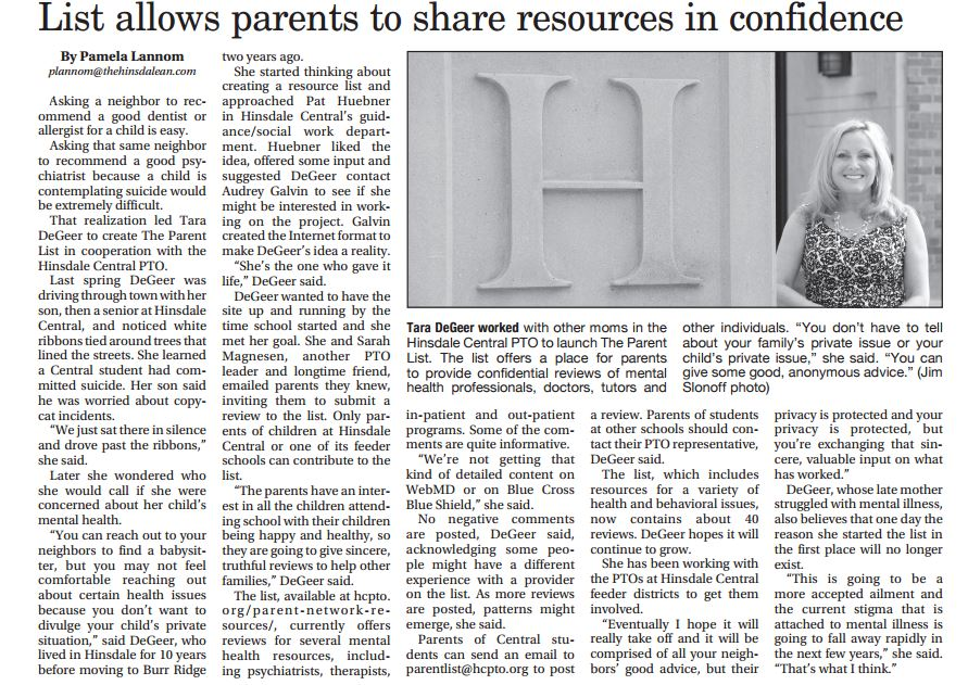 Parents Share Resources